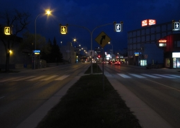 LED Pedestrian Crosswalk Signs - Street View